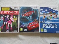 Wii console games x 3