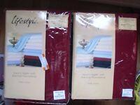 """""""LIFESTYLE"""" BED SHEETS (Pair) SIZE 96"""" x 108"""". Burgundy colour.100% Cotton. £ 20.Bargain"""