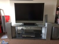 TV + DVD with 5 speakers and subwoofer and stand