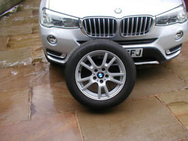 BMW X3 spare wheel and tyre