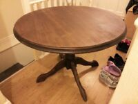 Round Table - SALE- need go asap. Wooden furniture!