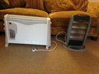 2 Electric Heaters,1 Halogen 1 Convector