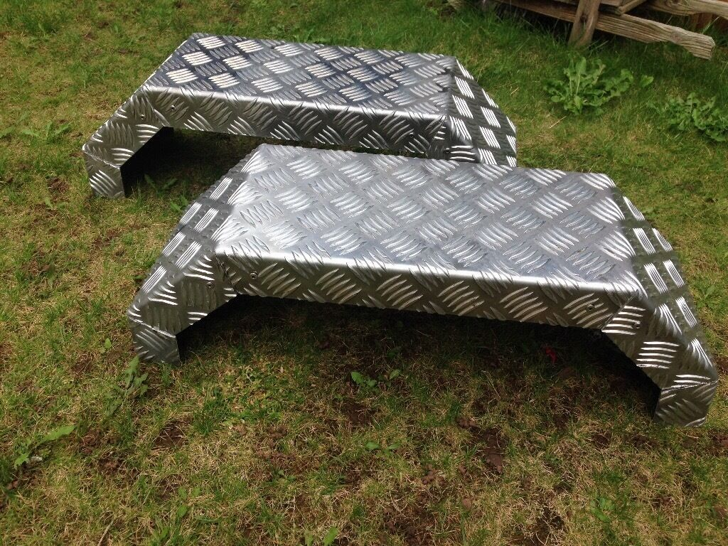 Checker Plate Trailer Mudguards Never Been Used In Aspley