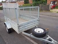 Factory Built 7x4 trailer + mesh sides/ramp/spare wheel