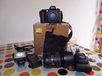 Nikon D90 Camera -Excellent condition with LOW shutter count + Nikon 18-200mm f/3.5-5.6 VR AF-S Lens