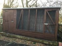 Dog kennel and run 13ft x 5ft