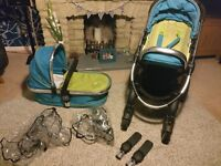 iCandy Peach Pushchair and carry cot bundle