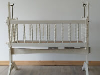 baby cot bed used white wood swinging crib baby cot bed used white wood swinging crib