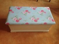 Wooden Ottoman with Cath Kidston Cover