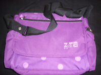 Zeta purple chagning bag with changing mat