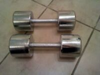 Solid Chrome Weights Dumbbells - 20kgs pair 2x10 kg - £20