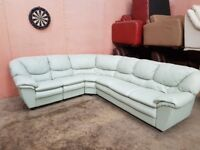 Genuine Leather 6 Seater Corner Sofa Couch Longer Arm Can Be Adjusted Delivery Possible