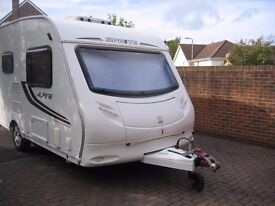 Sprite Alpine 2 2010 model 2 berth caravan IMMACULATE CONDITION inside & out with many extras