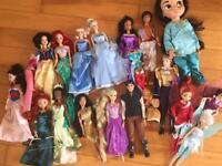 Disney Princess dolls and Jasmine toddler doll used