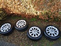 """17"""" Alloy Wheels and Tyres - Genuine Audi"""