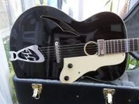 german jazz guitar dressed gentleman by hoyer rare. px poss