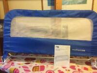 Blue folding bed guard