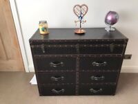 Leather Look Chest Of Drawers
