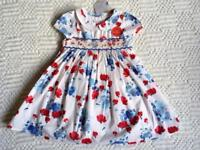 Brand New NEXT Poppy Print Dress and Knickers Set 12-18 Months