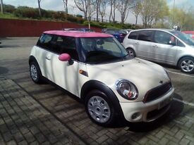 2012 Mini in Cream & pink
