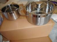 2x SCHULTE _UFER . Rondo pans for Induction hob