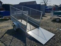 BRAND NEW MODEL 7.7 x 4.2 SINGLE AXLE WITH 80CM MESH AND RAMP TRAILER