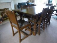 FREE TO COLLECTOR Old Charm Dining room table and 6 chairs
