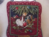 CHRISTMAS CUSHIONS - TWO