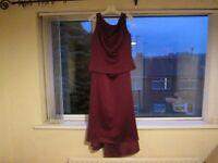 2 piece Burgundy Formal Dress