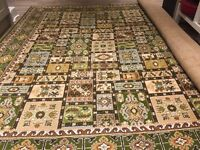 Giant Axminster Rug - Torbay Panel Persian - Green - 100% wool - 2.7m x 3.6m