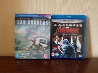 Avengers: Age of Ultron / San Andreas 3D Blu-Ray's (£6 each) - Good Condition