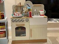 John Lewis Wooden Play Kitchen, Cake Mixer, Blender, Tea set & Accessories