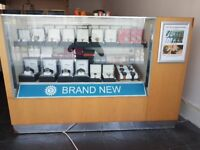 Retail shop display cabinets, good quality used cabinets with lockable drawers for storage