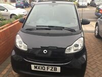 SMART FORTWO CABRIO FOR SALE, BLACK, 2010, PETROL, £3500 Ono