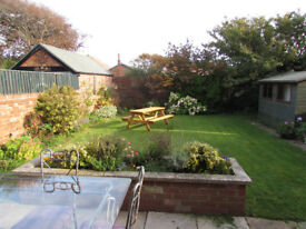 Three rooms in large detached house for rent with garden & parking near school, train & bus