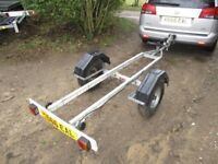 GALVANISED JET SKI TRANSPORTER ROAD TRAILER WITH LIGHTS ETC....