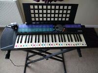 Yamaha PS73 Electric Keyboard with Stand, Headphones, Document Holder & Stool