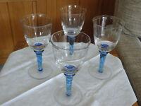 8 large wine glasses