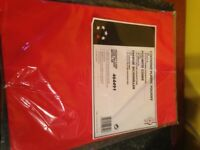 14 x Packs of 25 Red Plastic A4 folders - brand new unopened