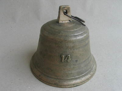 alte Kuhglocke Glocke Nr. 14 Bauernglocke Messingglocke