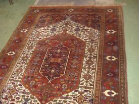 Hand Made Persian Rug With Silk Foundation 190cm x 128cm