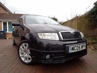 2005 Skoda Fabia VRS in Black, Full Service History Recent Cambelt and Waterpump