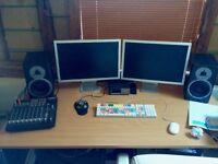 Apple PowerMac G5 , 7Tb RAID and twin HD Screens