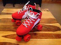 Rio Roller Pure Quad Skates - Red/White - Size - UK 6 (EUR 39.5)