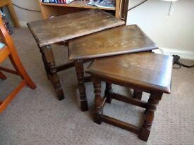 Set of 3 Nested Wooden Coffee Tables