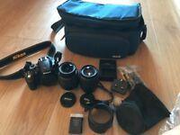 NIKON D3200 Camera & 2 lens