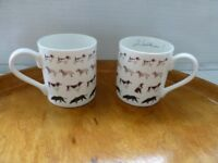 "Pair of Sophie Allport mugs ""Walkies"""