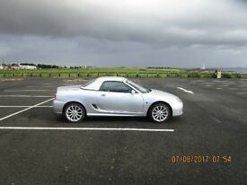 MGTF 1600cc Sports Car, Low Mileage, £950