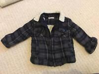 12-18 month M&S wool trim plaid jacket