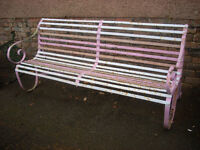 IRON WORK BENCH / BRNCH / TABLE ENDS £ 230 THE LOT .